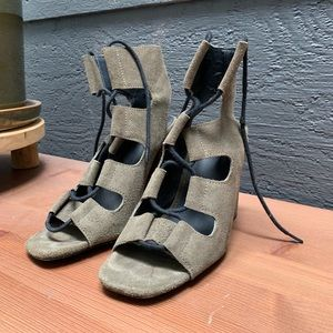 Urban Outfitters Suede Lace Up Heels